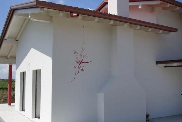 decorazione muro farfalla